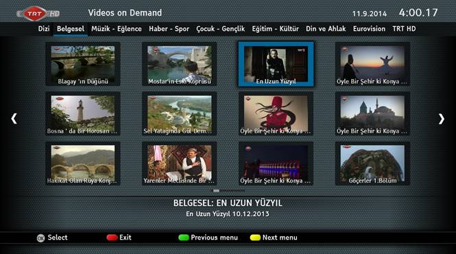 TRT VOD view in Turkey