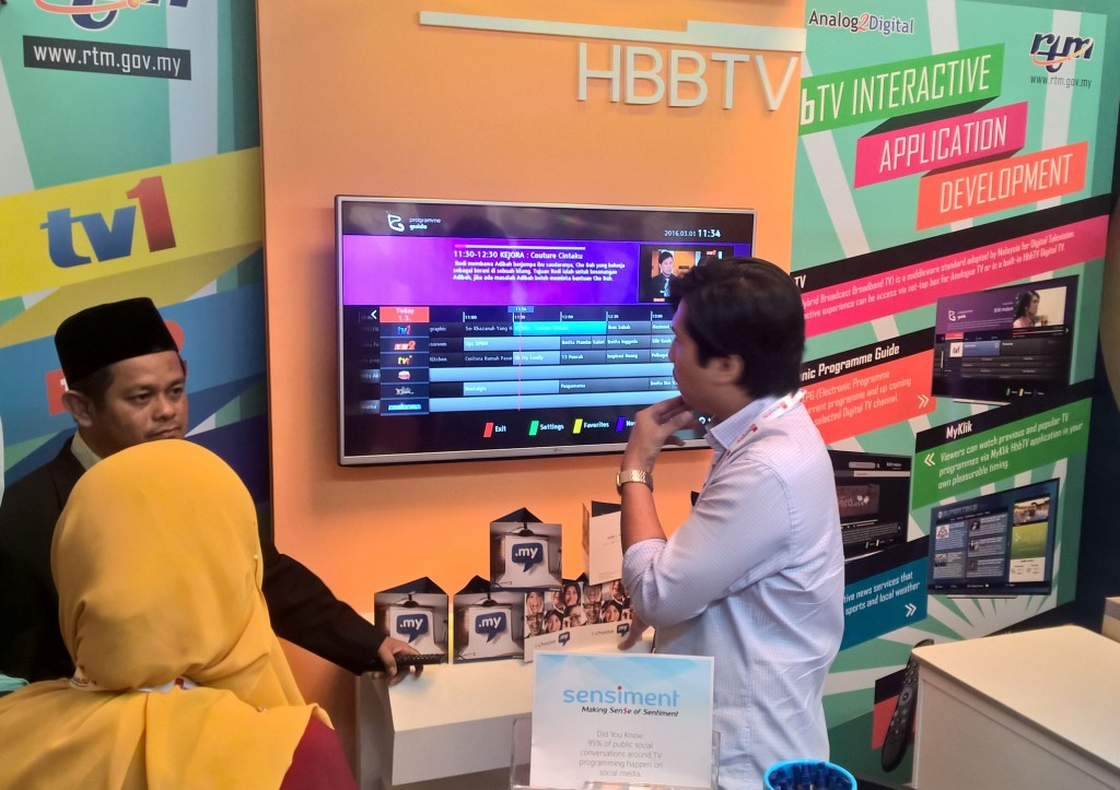 RTM HbbTV trial shown in ABU Digital Broadcasting Symposium 2016