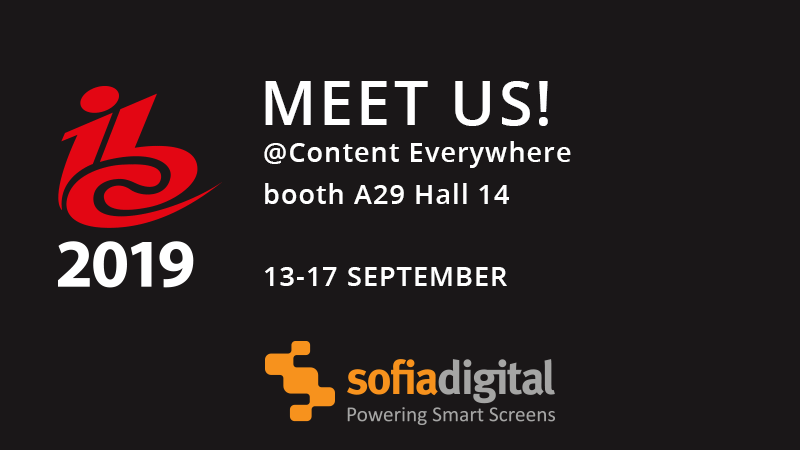 Sofia Digital - IBC 2019 #A29